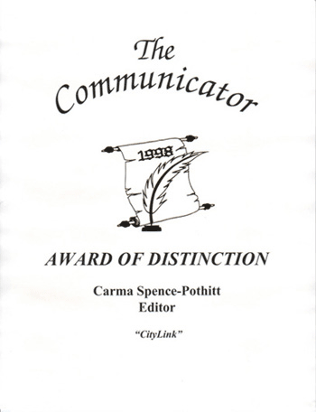 Carma's Communicator Award