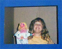 Carma Spence and her Butterfly Girl puppet