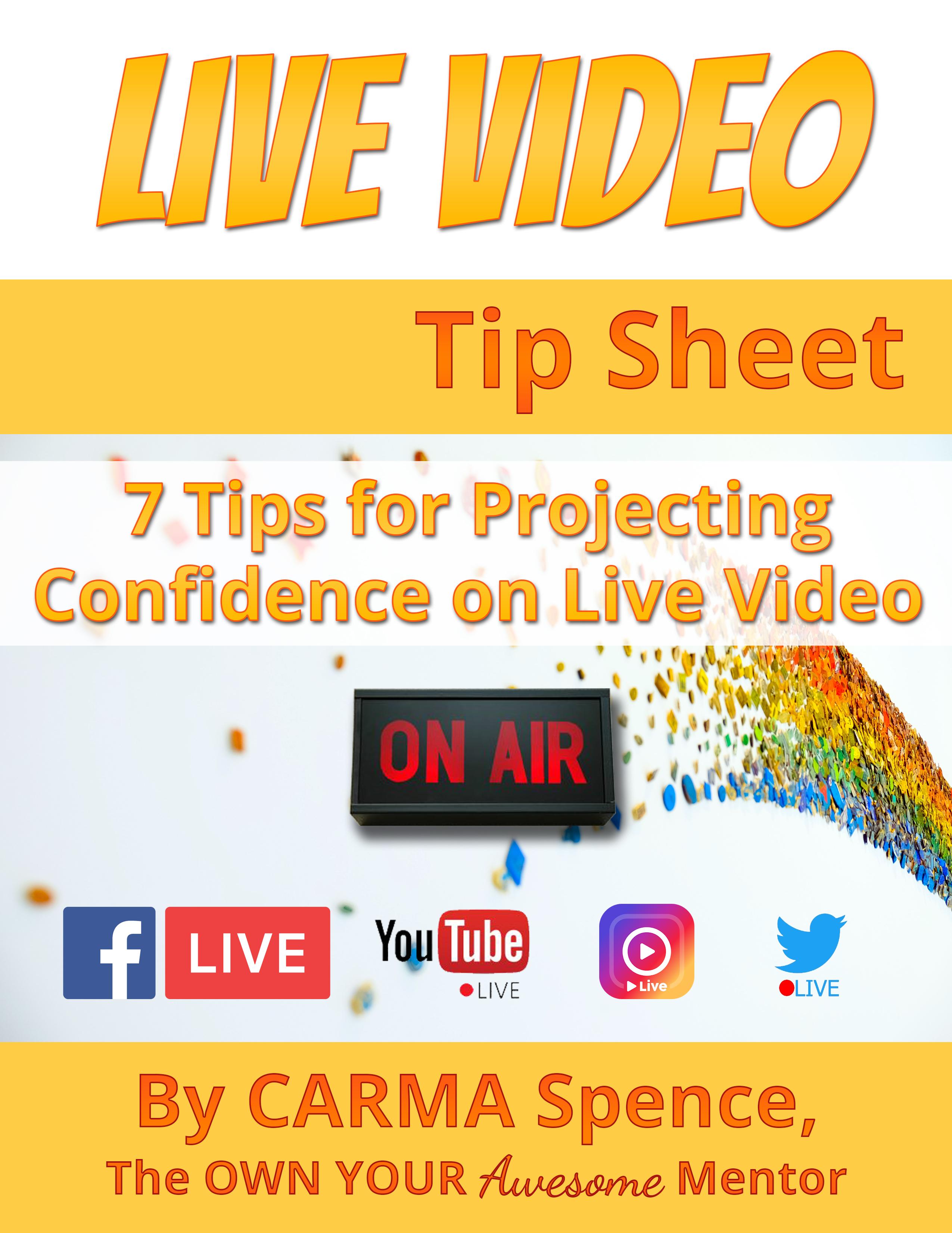 Live Video Tip Sheet