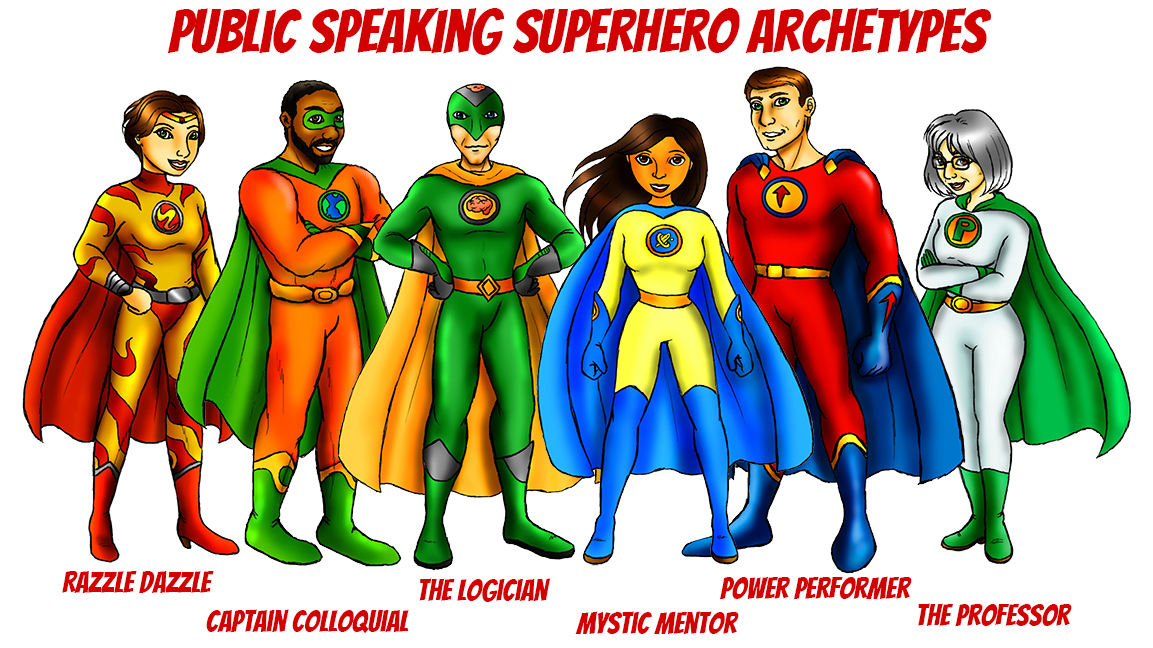 Public Speaking Superhero Archetypes