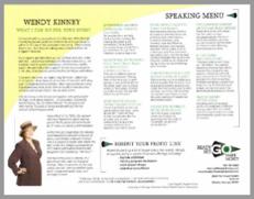 speaker menu
