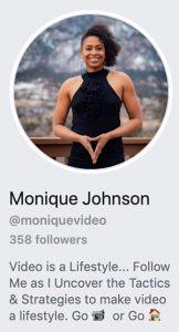 Monique Johnson, Live Video Lab